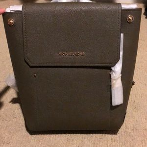 NWT Michael Kors Hayes backpack in olive.